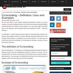 Co Branding - Definition, Uses, Examples, Advantages & Disadvantages