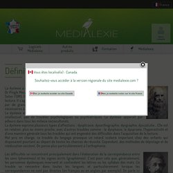 Définition de la dyslexie - Médialexie France