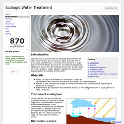 Project definition - Ecologic Water Treatment