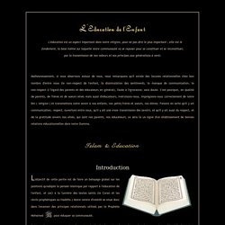 ~ Definition de l'Education ~
