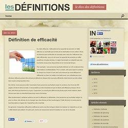 Définition : efficacité et efficience