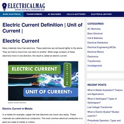 Electric Current Definition