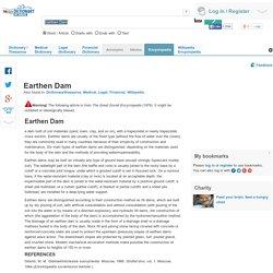 Earthen Dam definition of Earthen Dam in the Free Online Encyclopedia