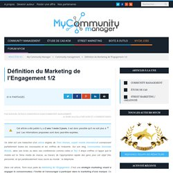 Définition du Marketing de l'Engagement