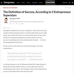 The Definition of Success, According to 5 Entrepreneur Superstars