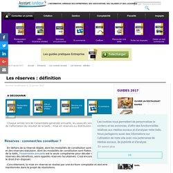 Les réserves : définition - Aide juridique entreprise en ligne gratuite