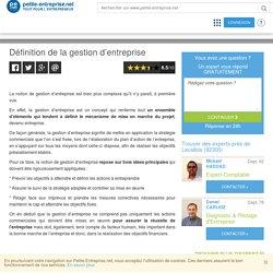 Définition de la gestion d'entreprise, Entreprises, TPE, PME, Petite Entreprise