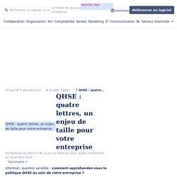 QHSE : définition, métier, et management qualité hygiène sécurité environnement
