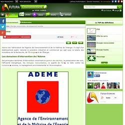 ADEME - Agence de l'environnement et de la maîtrise de l'énergie