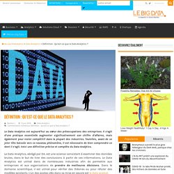 Définition : Qu'est-ce que le Data Analytics ?