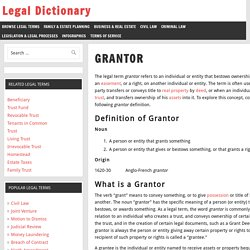 Grantor Definition, Examples, Processes