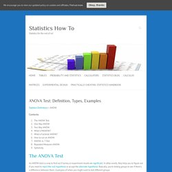 ANOVA Test: Definition, Types, Examples - Statistics How To