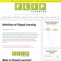 Definition of Flipped Learning - Flipped Learning Network Hub