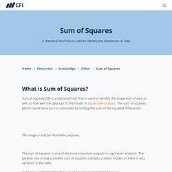 Sum of Squares - Definition, Formulas, Regression Analysis