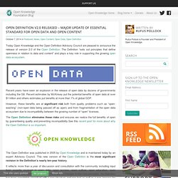Open Definition v2.0 Released – Major Update of Essential Standard for Open Data and Open Content