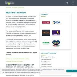 Définition de Master Franchisé - Lexique du commerce en réseau