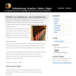 Definition von Globalisierung - Was ist Globalisierung?