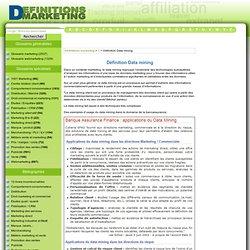 Définition Data mining