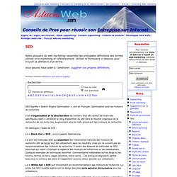 SEO (définition) - Glossaire du marketing Internet