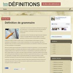 Définition de grammaire