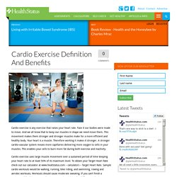 Cardio Exercise Definition and Benefits - HealthStatus