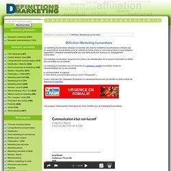 D finition Marketing humanitaire : Le glossaire illustr du marketing