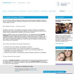 Maladie chronique : définition & informations