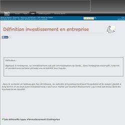 Définition investissement en entreprise