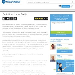 Définition : La loi Dailly