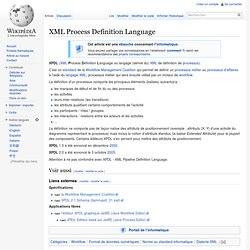 XML Process Definition Language