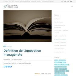 Définition de l'innovation managériale