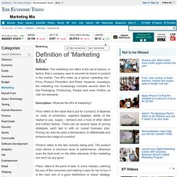 Definition of 'Marketing Mix'