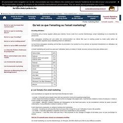 Emailing definition - emailing marketing avec MarketingConnect