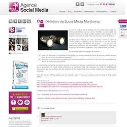 Définition de Social Media Monitoring