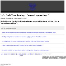 Definition of the military term covert operation