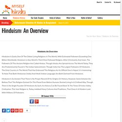 Definition of Hinduism - Myselfhindu