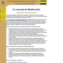 Définition de la notion de biodiversité