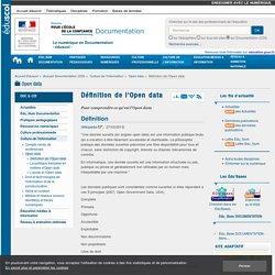Définition de l'Open data — Documentation (CDI)