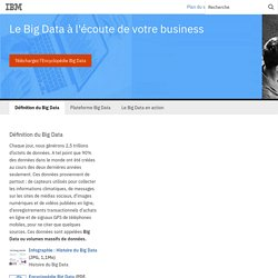IBM - Définition du Big Data - Profitez des opportunités du Big Data - France