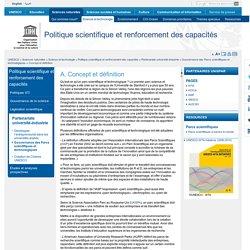 Concept et définition : Parc scientifique et technologique