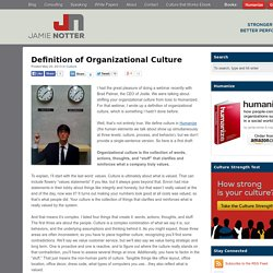 Definition of Organizational Culture