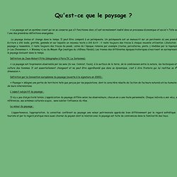 d finition du paysage pearltrees ForPaysage Definition