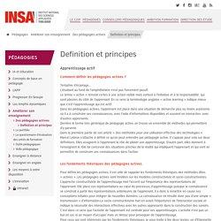 Definition et principes - Centre d'Innovation et d'Ingénierie Pédagogique