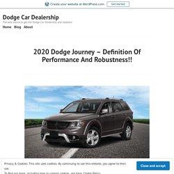 2020 Dodge Journey Transmission