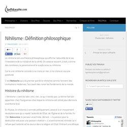 Nihilisme : Définition philosophique