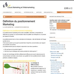 Définition du positionnement marketing - Cours marketing