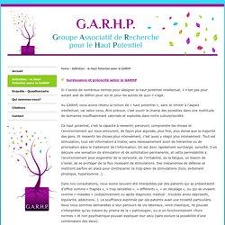 Définition - le Haut Potentiel selon le GARHP