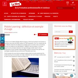 Mobile Learning: définition et exemple d'usage