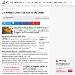 Définition : Qu'est-ce que le Big Data ?