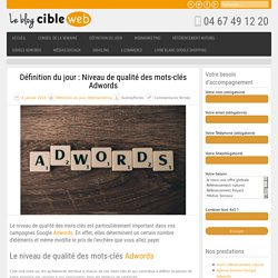 Niveau de qualité des mots-clés Adwords
